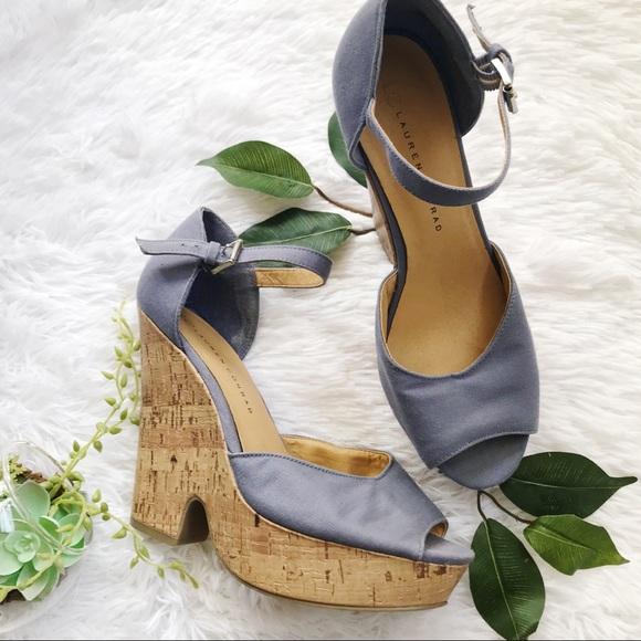 44e36e0b8a1f LC Lauren Conrad Shoes - Lauren Conrad chunky boho ankle strap wedge sandal